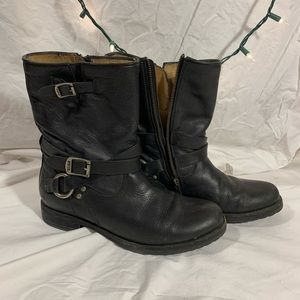 Frye Motorcycle Zip-up Boots sz 9.5
